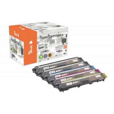 Peach  Spar Pack Plus Tonermodule kompatibel zu Hersteller-ID: TN-241bk, TN-245